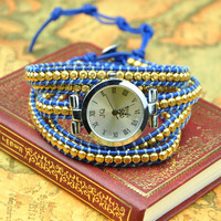 Handmade Small Beaded Wraps Watch