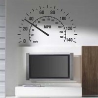 Speedometer Wall Decal Sticker Room Nursery Car Cars by DabbleDown