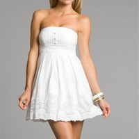 Low Price White Cotton Dresses With Buttons