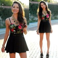 Mix Black into Florals