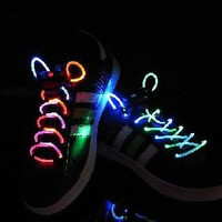 very Hot Flashing LED Shoelaces with free shipping [4275] - US&amp;#36;3.99 - China Electronics Wholesale - FlyDolphin.com