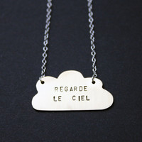 Regarde Le Ciel/ Look At The Sky Brass &amp; Silver Necklace