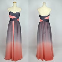 2013 Cheap New Style A Line Strapless Sweetheart Long Chiffon Prom Dresses