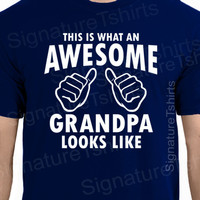AWESOME GRANDPA Mens T-shirt This is what looks like Grandparent shirt tshirt  Grandad Grandfather papa New Father's Day gift for dad