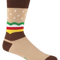 Men's Burger Socks - Crew Socks by Sock it To Me  - Whimsical & Unique Gift Ideas for the Coolest Gift Givers