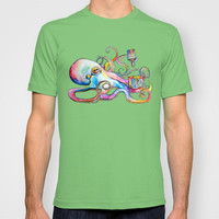 Psychedelipus  T-shirt by Hanna Lemoine | Society6