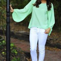 Stay With Me Blouse: Mint Green | Hope&#x27;s