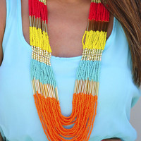 Color In Everything Necklace: Multi | Hope's