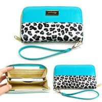Amazon.com: JAVOedge Leopard Zipper Case for iPhone 4S, Samsung Galaxy S3, Lumia 900, HTC One - Turquoise: Cell Phones & Accessories