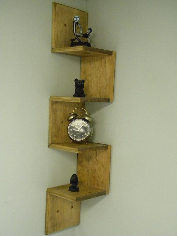 Wall mounted corner shelf walnut from Corner wall mounted shelves