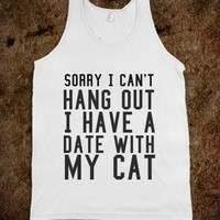 Date With My Cat - Protego - Skreened T-shirts, Organic Shirts, Hoodies, Kids Tees, Baby One-Pieces and Tote Bags