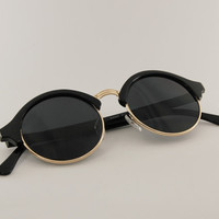 Round circle Clubmaster sunglasses M041 by MeisterShades on Etsy