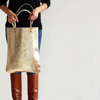 GOLD RUSH - tote bag, leather bag, everyday leather tote bag