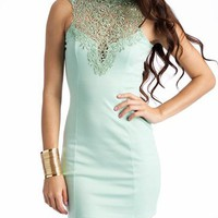 lace open back dress $34.00 in BLACK CORAL PEACH SEAFOAM WHITE - New Dresses | GoJane.com
