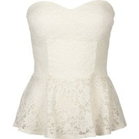 Amazon.com: FULL TILT Lace Womens Peplum Tube Top: Clothing