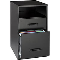 Office Designs Black Steel 2-drawer File Cabinet with Shelf | Overstock.com