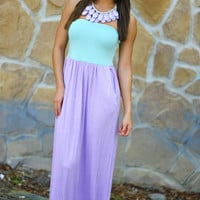Color Me Happy Dress: Purple/Mint | Hope&#x27;s