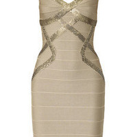 Herv? L?ger?|?Sequin-embellished bandage dress?|?NET-A-PORTER.COM
