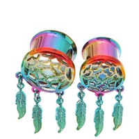 Morbid Metals Rainbow Dream Catcher Plugs 2 Pack - 399184