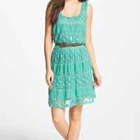As U Wish Tiered Lace Dress (Juniors) (Online Exclusive) | Nordstrom