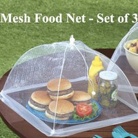 Mesh food nets - Set of 3 - White