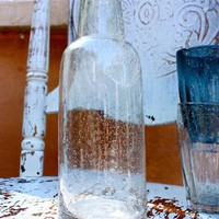 Handworked Glass Carafe in Glacier for sale online from Carolina Boutique in Mill Valley