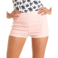Colored High Waist Millennium Short: Charlotte Russe