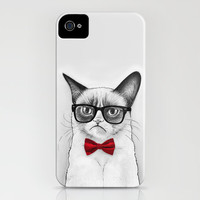 Grumpy Nerd, Tardar Sauce Poindexter Cat  iPhone Case by Olechka | Society6