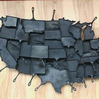 United States of Cast Iron Skillets by Alisa Toninato | materialicious