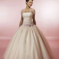 Tulle Beaded Straight Strapless Neckline Quinceanera [dressnl3559] - $166.00 : dressnl.com, Prom Dresses Holland online shop