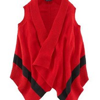 NWT Ralph Lauren Girls Cardigan Wrap Vest Sweater S 7