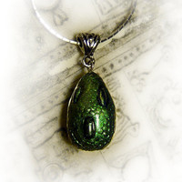 Dragon's egg pendant fantasy necklace by UraniaArt on Etsy
