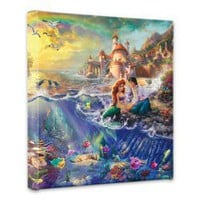 "Amazon.com: Thomas Kinkade The Little Mermaid 14""x14"" Canvas Wrap: Home & Kitchen"