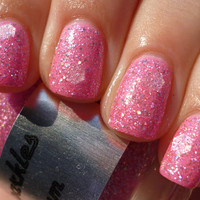 Bubble Gum: Custom Blended Glitter Nail Polish/Lacquer