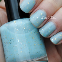 Be Gentle It's My First Time Nail Polish -  Baby Blue Glitter Crelly - Full Size 15 ml Bottle