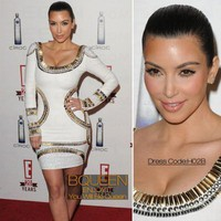 Kim Kardashian in H02B Dress - Celebrity Dresses - Apparel