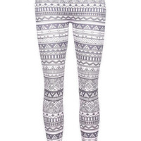 Black &amp; White Tribal Legging