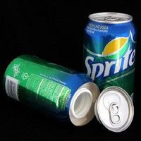 Sprite Soda Diversion Safe Can Stash+Free Pack of 1 1/4 Rasta Wrap