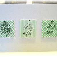 Set of 2 Three D Effect Nature Blank Note Cards  by notetreasury