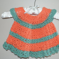 Crochet Baby Dress, Orange Baby Girl Clothes, Summer Baby Dress, Newborn Dress, Infant Dress, Baby Girl Clothes, Orange Baby Top