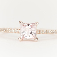Peach Pink Fancy Sapphire Diamond 14K Rose Gold by SundariGems
