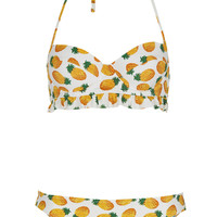 White Pineapple Bikini - Topshop