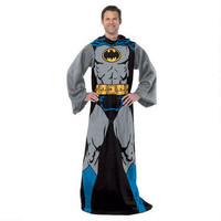 Batman Fleece Throw Blanket with Sleeves |