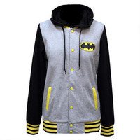 Batman Logo Fleece Jacket with Hood |