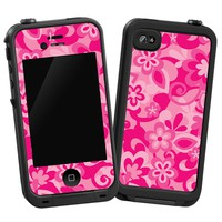  Pink Flower Power Skin for LifeProof 4/4S Case