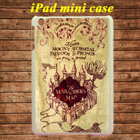iPad mini case,iPad case--Harry Potter marauder's map,in plastic case