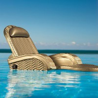 Extra-large Floating Blue Chaise - Bronze