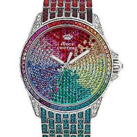Juicy Couture Watch, Women's Stella Rainbow Crystal Stainless Steel Bracelet 42mm 1901018 - All Watches - Jewelry & Watches - Macy's