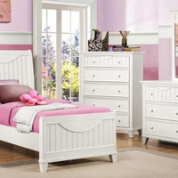 Mallory White Twin Size Bed