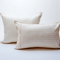 lined paper pillow  large by pilosale on Etsy